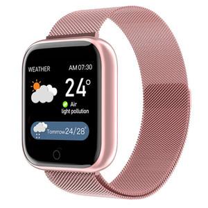 T85 intelligente Band Message d'appel Rappel du mode Sport bracelet métal veille du moniteur de tension artérielle Bracelet Fitness Tracker pour Smart Watch d'