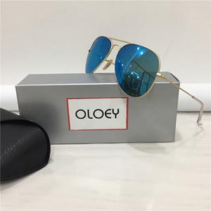 Gafas de sol para hombre de los vidrios de los hombres gafas de sol de marco para mujer Gafas de sol Gafas de sol de cristal Ourdoor Full Rim gafas de sol con la caja Tamaño 58-14mm