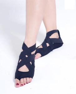 La venta caliente-KS Liu Tao con su profesional de la danza movimiento fitness con zapatos suaves de silicona inferior antideslizantes yoga femeninos