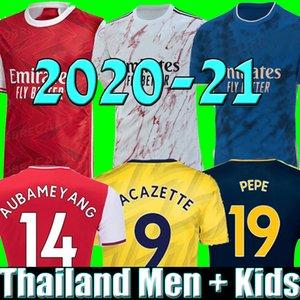 HOMMES enfants ensembles uniformes 2019 2020 2021 kits de football ARSENAL maillot de football 20 21 PEPE AUBAMEYANG  HENRY GUENDOUZI maillot de football hauts de football