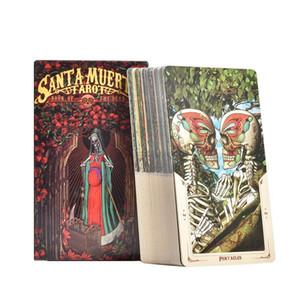 78pcs Santa Muerte Карты Таро Колода Полный английский Партийные Таблица Настольные игры Игральные карты для друзей семьи Развлечения Игры