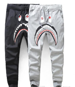 Оптовая Европе и Соединенных Штатах мужской прилив брендаBAPEмужской случайных штаны акулы печать тонкий срез брюк свободного SHIPP
