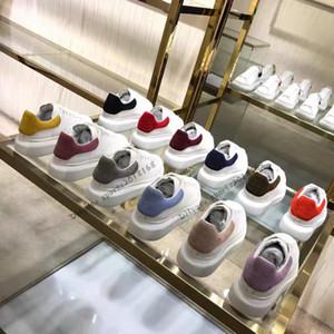 Black Velvet Hommes Femmes Chaussures Chaussures Belle Chaussures plateforme de sport de luxe Designers Chaussures en cuir Couleurs solides Chaussures de