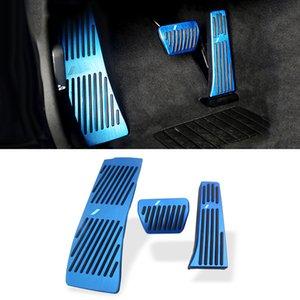 자동차 액세서리 BMW 5 시리즈 G30 2017년에서 2020년까지을 위해 알루미늄 합금 가스 연료 브레이크 페달 커버 패드 케이스 트림 프레임 장식 비는 드릴링