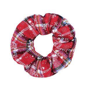 Motif de Noël de neige Chouchous Lady élastique Serre-têtes Bandeaux filles cravate cheveux cheveux Élastiques corde