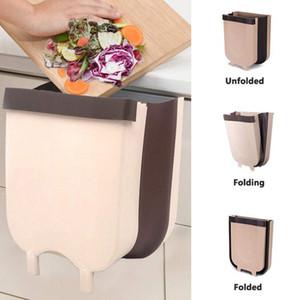 Складной мусорный ящик кухонный шкаф дверь висит мусорное ведро настенное мусорное ведро для кухни ванной комнаты туалета хранения отходов автомобиля