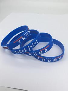 Presidente Trump silicona pulsera de la pulsera Mantenga Great American letras pulseras Donald Trump 2020 Voto estrella brazaletes Correa para la muñeca A121804