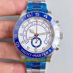 JF Súper versión YM2 II 116.680-0002 904L de acero de cerámica Bisel ETA A7750 cronógrafo automático 116681 del reloj para hombre Relojes Cronómetro Sapphire