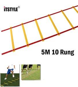 HOTSALE-ITSTYLE 5M 10 Agilité Rung Ladder 2MM / 3MM / 4MM Football et Ladder Football Speed Training