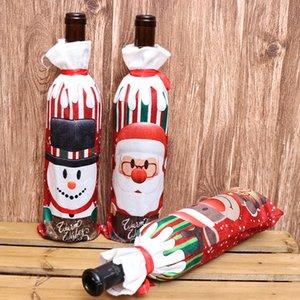 Noel Kırmızı Şarap Şişesi Kapağı Festivali Dekorasyon Şaraplar Şişeleri Kol Ev Mobilya Dekoratif Makaleler Yeni Varış 2 8kc L1