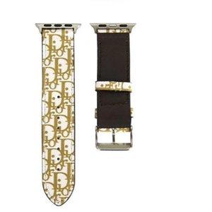 2020 Luxury For Apple Watch Bands Smart Straps iWatch Series 4 3 2 1 DD PU Leather Bracelets Sport Loop 42 44mm