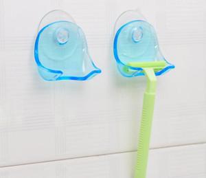Bleu clair en plastique super ventouse Razor rack Salle de rasoir Porte-ventouse de stockage en rack Shaver Promotion SN1121