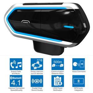 Casco de la motocicleta inalámbrica Bluetooth Auriculares manos libres Riding radio FM estéreo MP3 a prueba de agua Fácil Operación longstand