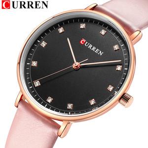 Womens Montre femme Elegant Quartz Women Watch Girls Fashion Diamond Leather Wristwatch CURREN Female Clock bayan kol saati