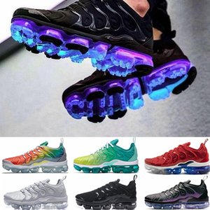 nike vapormax plus tn Hommes Femmes Chaussures De Course Jeu Royal Orange USA Fluorescence Noir Arc En Ciel Triple Blanc Vert Sport Baskets En Plein Air