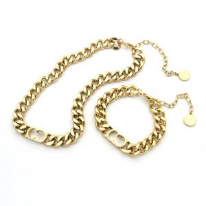 Yeni sıcak satış yüksek kalitede moda marka titanyum çelik punk tarzı çift hediyeler için uygun 18K altın kalın bilezik 17cm bilezik