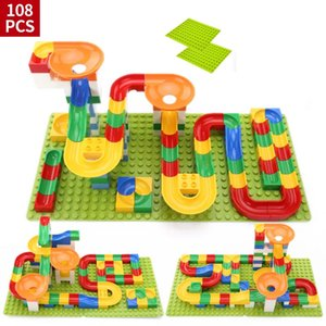 Hot Sale Crazy Ball Building Blocks Marble Race Run Maze трекбол Building Blocks Пластиковые Воронка Slide игрушки