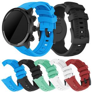 Совместимость Suunto 9 Band Мягкий силиконовый ремешок для часов для Suunto 9 GPS Baro Замена ремешок для часов Спорт для мужчин, женщин