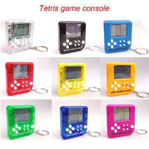 미니 클래식 게임 기계 아동 핸드 헬드 레트로 향수 미니 게임 콘솔을 키 체인 테트리스 비디오 게임 고전 게임