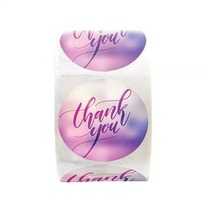 500pcs Thank you wedding invitation envelope seal thank you adhesive stickers labels round crafts and gifts package labels stickers