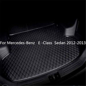 For Mercedes-Benz E -Class Sedan 2012-2013year s Car Anti-skid Trunk Mat Waterproof Leather Carpet Car Trunk Mat Flat Pad
