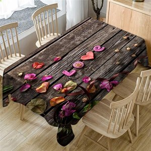 Wedding Valentine's Day romantic 3D tablecloth table cloth Dinner for Family Party Home Decortion 2019 NEW table cloth #3J07