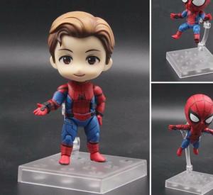 NOUVEAU Marvel Homecoming mignon Spider-Man Kawaii Figurine Q Tom Holland Avengers Spiderman Toys Doll Nendoroid KO 781