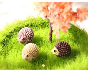 Ornamento Craft 1pcs Hedgehog Fairy Garden Miniaturas Micro Paisagem Bonsai Planta Garden Decor DIY Decoração Home Acessórios