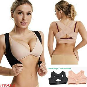 Frauen-justierbare Schulter zurück Posture Corrector Mädchen BH Push-up-Büstenhalter-Kasten-Weste-Stützgurt bucklige Körperhaltung Korrektor