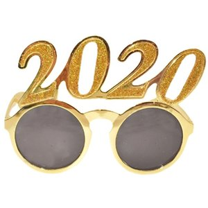 Funny Masquerade Frames Glasses 2020 New Year Eve Festival Glasses Christams Party Decoration For Cosplay Boys Girls Unisex Golden