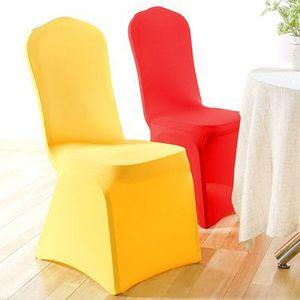 12 цвет спандекс чехлы на стулья чехлы на стулья для столовой плоские арочные ну вечеринку свадьба банкет украшения событий