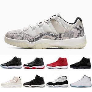 2019 Snakeskin Concord 11 XI 11s Jeter Men Basketball Shoes Vast Grey Neutral Olive Cap and Gown Space Jam women mens sports Sneakers