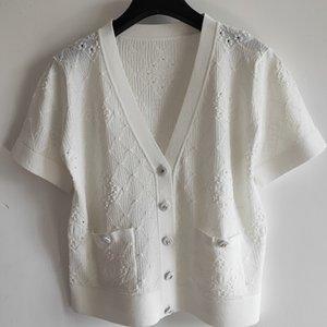 Femmes Marque Cardigan Ladys Designer manches courtes Chandails Femmes Casual solide Couleur Vêtements Filles Mode Pull 2020 New Summer