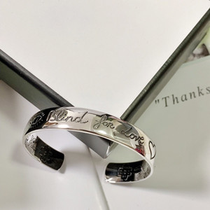 Adjustable Open Bracelet Silver-plated Silver Bracelet for Couple Bracelet Silver-plated Top Quality Bracelets Supply