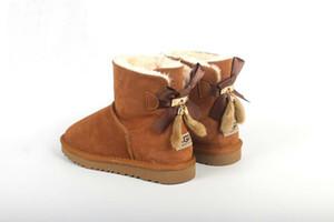 детские мальчики и девочки зима снегоступы мода классический короткий лук сапоги лук девушка мини Бейли загрузки 2020 размер 21-35