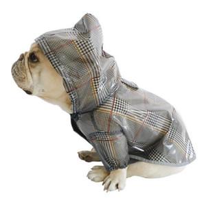 Доплавка для собак для французских бульдогов и мопсов для собак для собак, клетчатая дождь дождь домашнее покрытие домашнее животное одежда