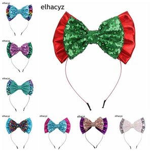 Ins DIY handwork Mermaid girls headbands sequin hair bows kids hair sticks party beach designer headbands girls hair accessories B1377