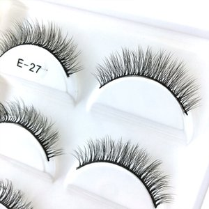 Free sample E27 best selling 5 pairs 3D mink silk natural soft full strip eyelashes wholesale price