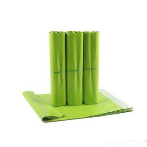 과일 녹색 폴리 접착 봉투 가방 선물 포장 가방 플라스틱 메일러 의류 / 박스 후 가방을 메일 링