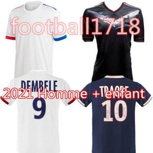Майо де ножной Olympique Lyonnais 19 20 21 футбол Джерси 2020 2021 Лион футбол рубашки ТРАОР МЕМФИС FEKIR Men + Детский комплект