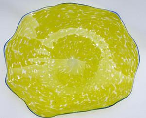 Hot Sale Murano Glass Plates Wall Art Hand Blown Glass Wall Decorative Flower Glass Plates Wall Lamps