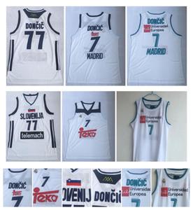 2019 سلوفينيا 77 Doncic Stitched College Sport Jersey CITY SWINGMAN قمصان جديدة لوكا # 7 سلوفينيا ريال مدريد يوروليج بطل كرة السلة
