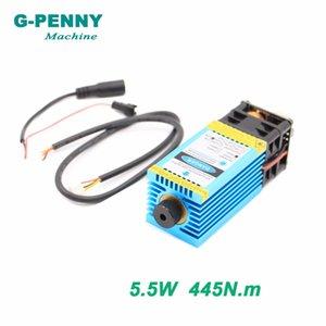 Бесплатная доставка! Лазерный гравировальный станок 5.5N.m Модель 5500mw 445nm синего света PWM 12vttl PMW Гравировка резка дерево доски стала.