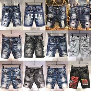 2020 Italie Fashion Style Designer Casual Denim été Hommes Shorts Jeans Marque broderie Hip Pop Rock Pantalons Holes Jean Pantalons pour hommes
