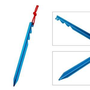 Tent 20pcs liga de alumínio Pegs Nails com corda leve Outdoor Caminhadas Camping Tent Stakes Vermelho Azul
