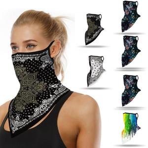 25 # Открытого Бандана Face Shield печать Ear Face Cover Спорт ветрозащитного шарф горловиной Dust езда Велоспорт Бандан Балаклав