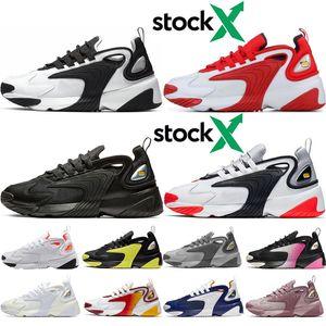 nike Zoom M2K Top M2k Tekno Zoom 2K para mujer Zapatillas de deporte para mujer Fashion 2000 Race Rojo Negro Blanco Triple Negro Royal blue Purple Zapatillas de correr Zapatillas