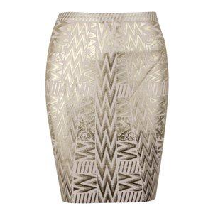 Or métallique en cuir Bandage Jupe taille haute Indie Folk Crayon Bandage Jupe Parti Nightclub Jupe Noir Argent Taille XL