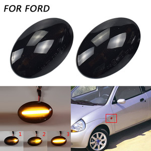 LED Acqua fluente dinamico Attiva indicatore luce laterale segnale lampeggiatore per Ford Fiesta MK3 MK4 KA Mondeo Transit Tourneo