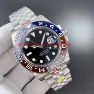N Factory Best Quality Basel World water-proof 40mm GMT 126710 904L Ceramic Jubilee Bracelet CAL.3285 Movement Automatic Mens Watch Watches